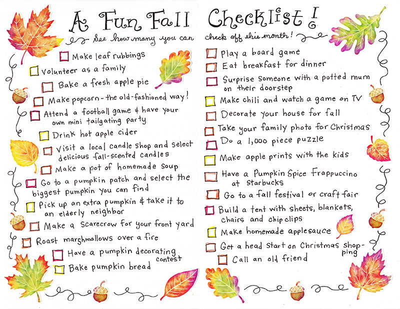 Fall Get 'Er Done Checklist